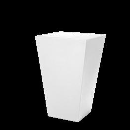 Mange-debout Cône blanc plateau acrylique blanc