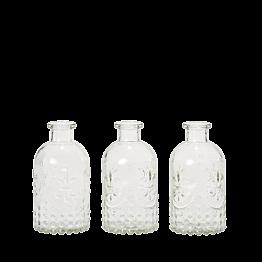 Lot de 3 vases Armoiries H 12 cm