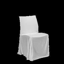 Chaise Opale avec housse blanche