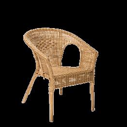 Fauteuil en rotin Vintage H 79 cm