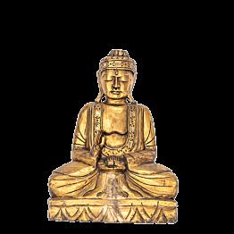 Bouddha assis doré 48 x 82 cm