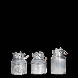 Pot à lait en zinc Vintage