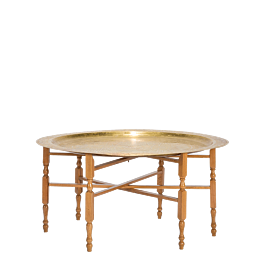Table basse ronde dorée Ø 89 H 48 cm