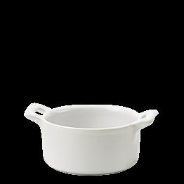 Mini cocotte porcelaine blanche Ø 7,2 cm H 3,5 cm 8 cl