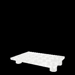 Plateau bubbles plexi sur pied 55 x 35 cm H 8 cm