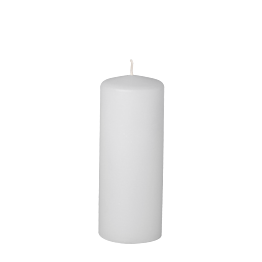 Bougie cylindre blanche H 15 cm