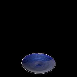 Assiette à pain bleue en verre  Ø 14 cm