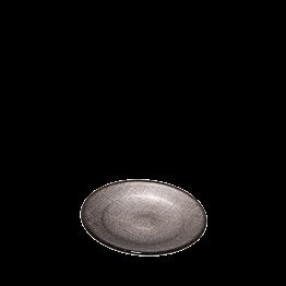 Assiette à pain taupe en verre Ø 14 cm