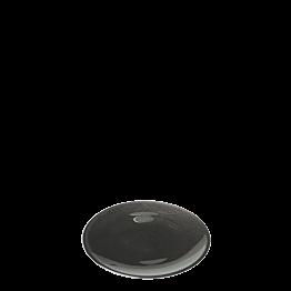 Assiette à pain noire en verre Ø 14 cm