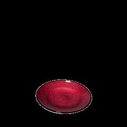 Assiette à pain rouge en verre Ø 14 cm