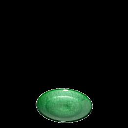 Assiette à pain verte en verre Ø 14 cm