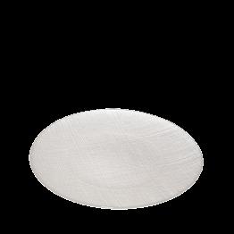 Assiette de présentation blanche en verre Ø 32 cm