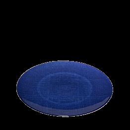 Assiette de présentation bleue en verre Ø 32 cm
