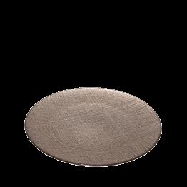 Assiette de présentation taupe en verre Ø 32 cm