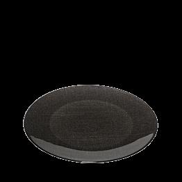 Assiette de présentation noire en verre Ø 32 cm