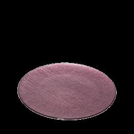 Assiette de présentation prune en verre Ø 32 cm