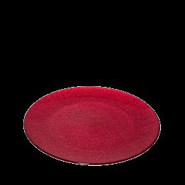 Assiette de présentation rouge en verre Ø 32 cm