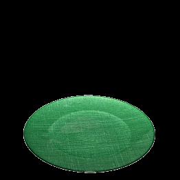 Assiette de présentation verte en verre Ø 32 cm