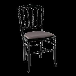 Chaise Napoléon III noire fixe Toscane bronze