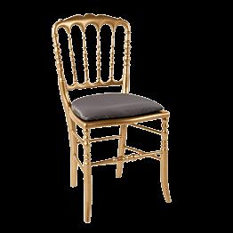 Chaise Napoléon III dorée fixe Toscane bronze