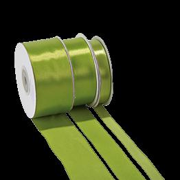 Ruban de satin vert anis 12 mm Longueur 25 m