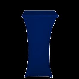 Mange-debout acier carré houssé bleu H 111 cm 60 x 60 cm