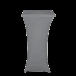 Mange-debout acier carré houssé gris H 111 cm 60 x 60 cm