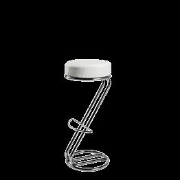 Tabouret Z H 80/81 cm blanc