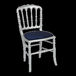 Chaise Napoléon III acier fixe Toscane bleu nuit