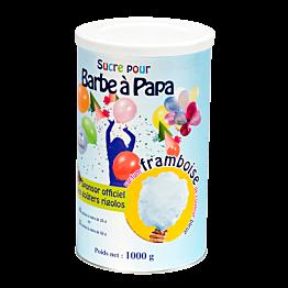 Sucre bleu pour barbe à papa parfum framboise 1kg
