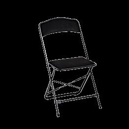 Chaise capitonnée black & black