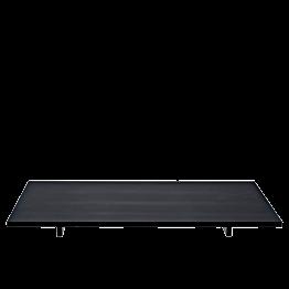 Plateau Iko noir mat 40 x 30 cm sur pied H 2.8 cm