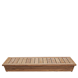 Table basse Lounge Grey 70 x 140 cm H 16 cm