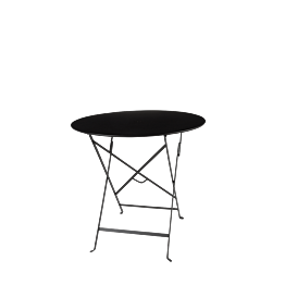 Table Trocadéro black Ø 77 cm