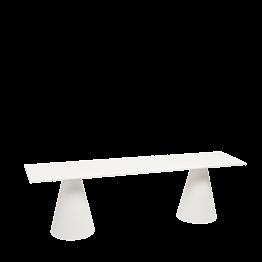 Banc Icône blanc 160 x 40 cm H 47 cm