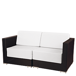 Canapé deux places Lounge tressé gris 160 x 80 x 67 cm