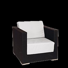Fauteuil Lounge tressé gris 80 x 80 x 67 cm
