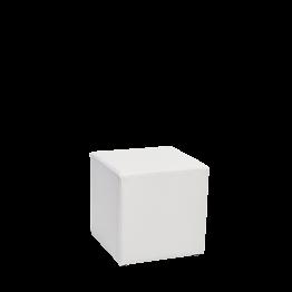 Pouf carré vinyle blanc 40 x 40 H 40 cm