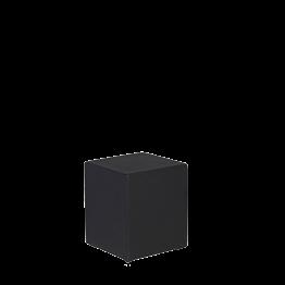 Pouf carré vinyle noir 40 x 40 H 40 cm