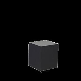 Table basse vinyle noir (avec plaque plexi) 40 x 40 H 40 cm