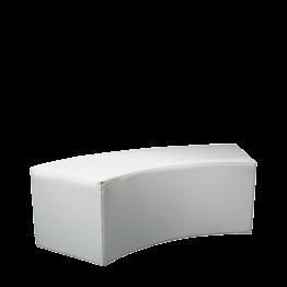 Banquette arrondie vinyle blanc 50 x 150 cm H 40 cm M1