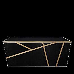 Buffet pliant Sakiro noir 100 x 225 cm avec joues - Délai 96 H
