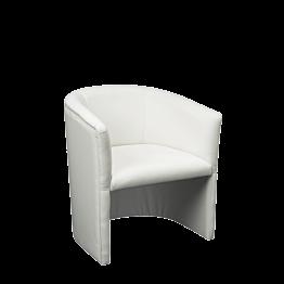 Fauteuil club Sim blanc 48.5 x 51 H 76 cm