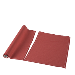 Sets de table/serviettes tissu brique 48 x 32 cm en rouleau (12)