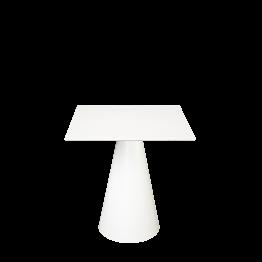 Table Icône carrée blanche 69 x 69 cm H 72 cm
