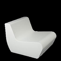 Fauteuil Lounge Pool blanc 76 x 90 cm H 68 cm