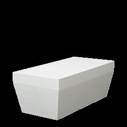 Banquette Lounge Pool blanc M1 80 x 40 cm H 30 cm