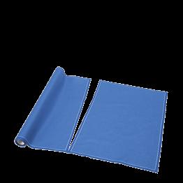 Sets de table/serviettes tissu bleu 48 x 32 cm en rouleau (12)