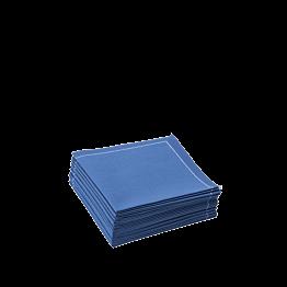 Serviettes tissu bleu classique 2 plis 20 x 20 cm (par 30)