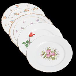 Grande assiette Vintage fleurie